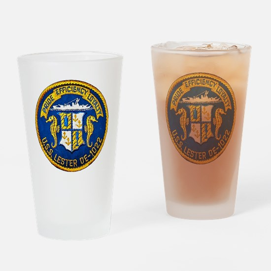 lester patch transparent Drinking Glass