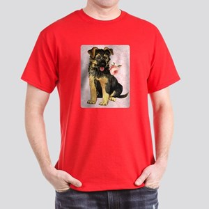 German Shepherd Rose Dark T-Shirt
