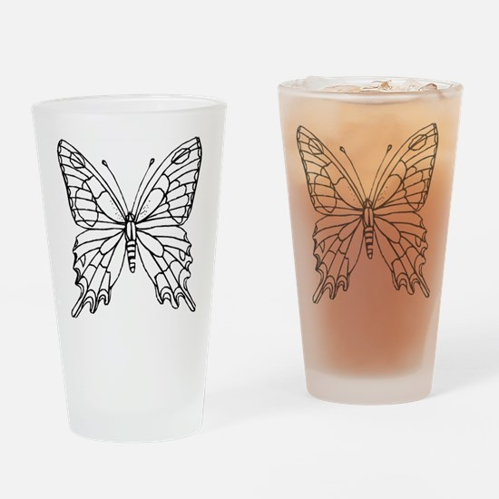 butterfly coloring Drinking Glass