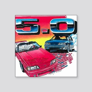 """Mustang% Square Sticker 3"""" x 3"""""""