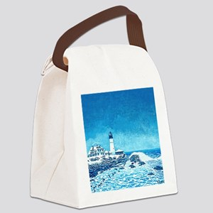 Winter Storm Watch mp Canvas Lunch Bag