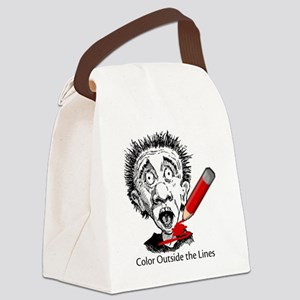 Color-Outside-on-white Canvas Lunch Bag