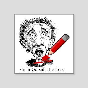 "Color-Outside-on-white Square Sticker 3"" x 3"""