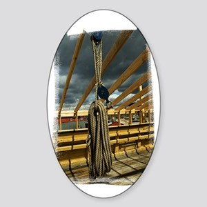 (16) Rope  Pulleys Sticker (Oval)