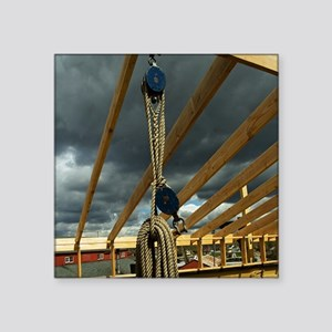 """(15s-1) Rope & Pulleys Square Sticker 3"""" x 3"""""""
