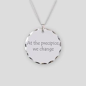 At the precipice center Necklace Circle Charm