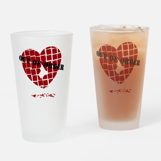 out-of-order-0001-black Drinking Glass