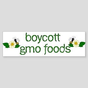 Boycott GMO Foods Sticker (Bumper)
