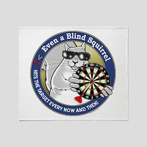 Darts Blind Squirrel Throw Blanket