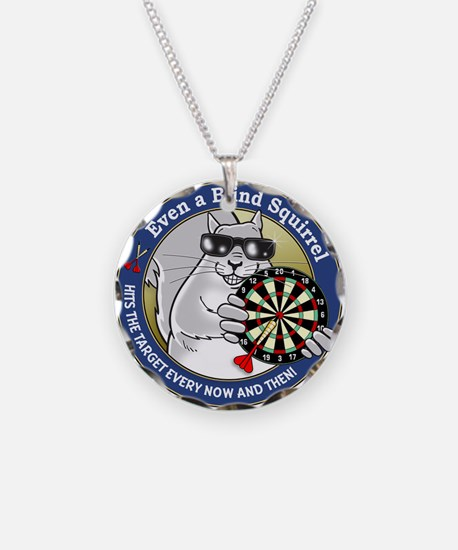 Darts Blind Squirrel Necklace Circle Charm