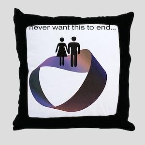 mobius SMNBG Throw Pillow