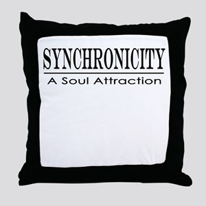Syncronicity-soul attraction-up Throw Pillow