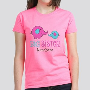 66ea53e54 Personalized Big Sister Elephant Women s Dark T-Sh