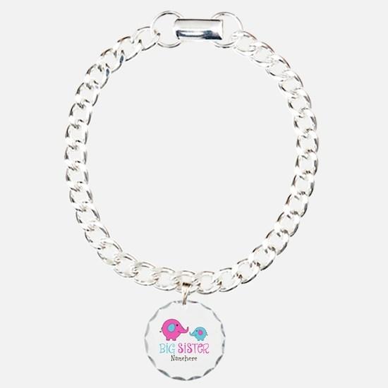 Personalized Big Sister Elephant Bracelet