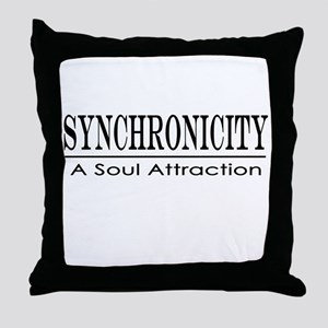 Syncronicity-soul attraction-low Throw Pillow
