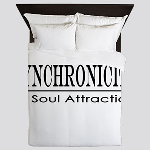 Syncronicity-soul attraction-low Queen Duvet
