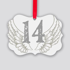 2-wings 14 Picture Ornament