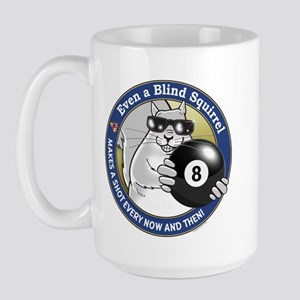 8-Ball Blind Squirrel Large Mug