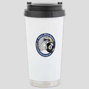 8-Ball Blind Squirrel Stainless Steel Travel Mug