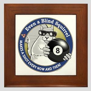 8-Ball Blind Squirrel Framed Tile