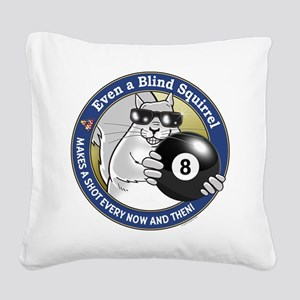 8-Ball Blind Squirrel Square Canvas Pillow
