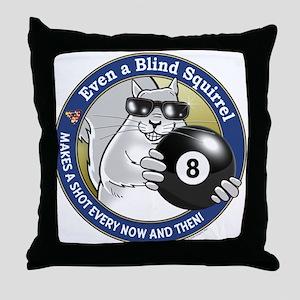 8-Ball Blind Squirrel Throw Pillow