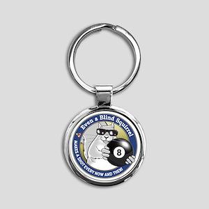 8-Ball Blind Squirrel Round Keychain