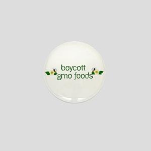 Boycott GMO Foods Mini Button