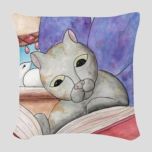 AGoodBook Woven Throw Pillow