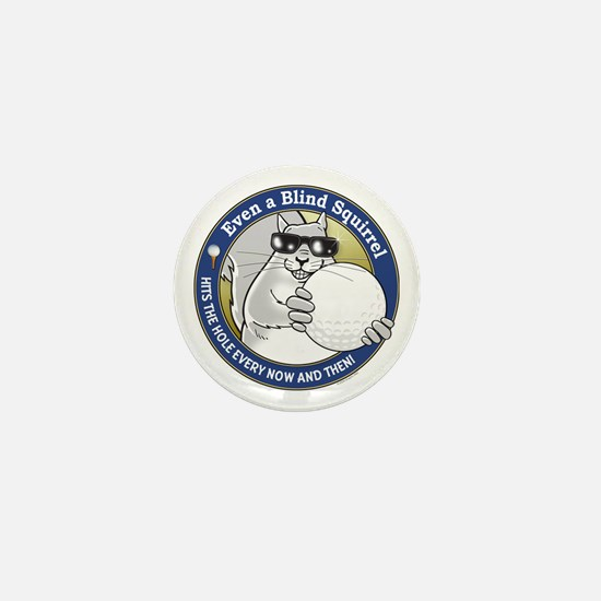 Golf Blind Squirrel Mini Button