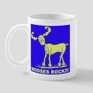 Blue MOOSES ROCK Mug