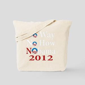 no way no how nobama copy Tote Bag