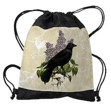 lilac-and-crow_9x12 Drawstring Bag