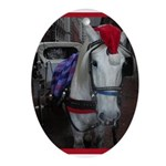 Holiday Horse Oval Ornament