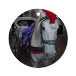 Holiday Horse Ornament (Round)