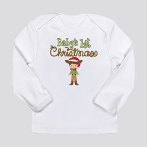1st Christmas Cowboy Long Sleeve Infant T-Shirt