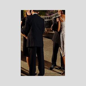 ART Obamas swing 2 Rectangle Magnet