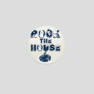 RockTheHouseBlue Mini Button