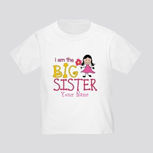 Stick Figure Flower Big Sister Toddler T-Shirt