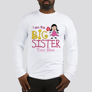 Stick Figure Flower Big Sister Long Sleeve T-Shirt