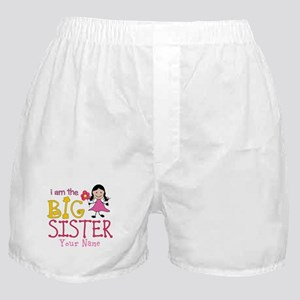 Stick Figure Flower Big Sister Boxer Shorts