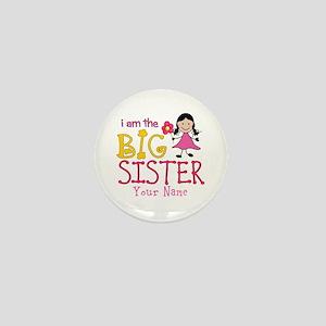 Stick Figure Flower Big Sister Mini Button