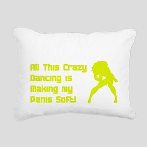2-crazy dancing Rectangular Canvas Pillow