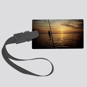 Sunrise Fishing Large Luggage Tag