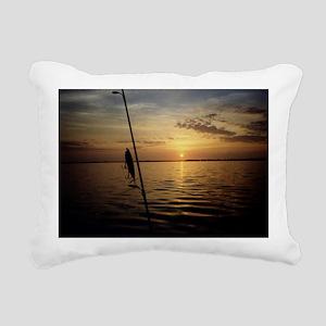 Sunrise Fishing Rectangular Canvas Pillow