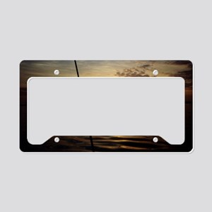Sunrise Fishing License Plate Holder