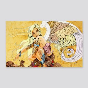 blonde-angel-poster-lg 3'x5' Area Rug