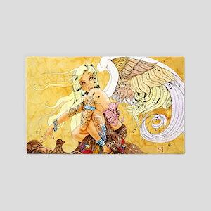 blonde-angel-poster-lg 3'x5' Area Rug