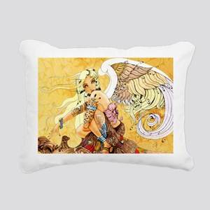 blonde-angel-poster-lg Rectangular Canvas Pillow