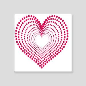 """hearts 2 Square Sticker 3"""" x 3"""""""